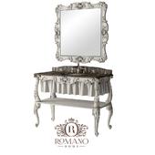 (ОМ) Консоль для ванной комнаты Оливия и зеркало Оливия Grand Romano Home