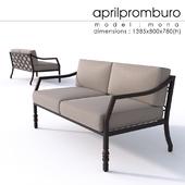 """OM"" Aprilpromburo Mona 2-seat sofa"