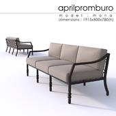Aprilpromburo Mona 3-seat sofa