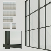 Panoramic windows. Stained glass window 7