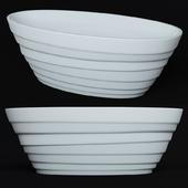 Ванна ANZZI Nimbus 5.6 ft. Acrylic Center Drain Freestanding Bathtub in Glossy White