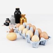 Egg tray set
