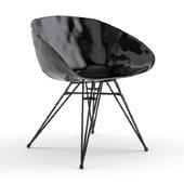 CB2 - Pugo black metal chair