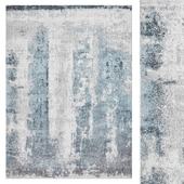 Carpet Think Rugs Brooklyn 8595 Ivory/Blue