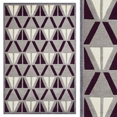 Carpet Think Rugs Hong Kong 1374 Grey/Purple
