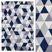 Carpet Think Rugs Hong Kong 3653 Grey/Navy