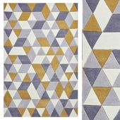 Carpet Think Rugs Hong Kong 3653 Grey/Yellow
