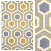Carpet Think Rugs Hong Kong 3661 Grey/Yellow