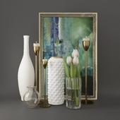 Decorative set with tulips