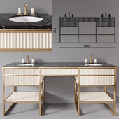 Academy 2x Nero marquinia Console by Oasis Group