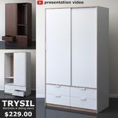 IKEA TRYSIL Wardrobe with sliding doors