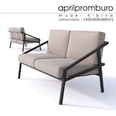 """OM"" Aprilpromburo Hibina 2-seat sofa"