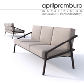 """""""OM"""" Aprilpromburo Chervona 3-seat sofa"""