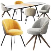 Rolf Benz 629 chair set