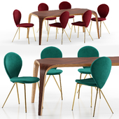 Perla chairs and Unico table - Riflessi