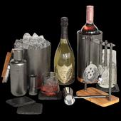 Crate and Barrel graphite bar accessories