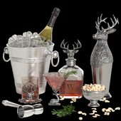 Potterybarn stag bar accessories