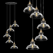 FACTORY FILAMENT CLEAR GLASS BARN ROUND PENDANT 5