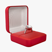 wedding ring in a square box