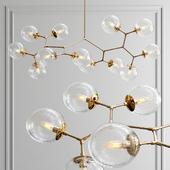 Custom 12 light vintage glass fixture