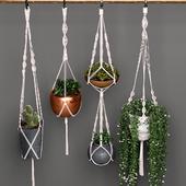 Декоративный набор подвесных кашпо