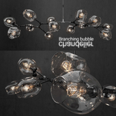 Branching bubble 13 lamps CLEAR / BLACK