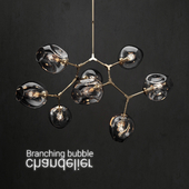 Branching bubble 8 lamps 2 DARK / GOLD