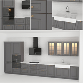 Kitchen with classic facades