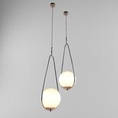 Pendant Lamp Loop Brass Kare Design