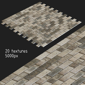 Paving slabs. 20 textures