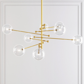 Restoration Hardware Glass Globe Mobile 8-ARM CHANDELIER 79