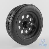 tire and car rim