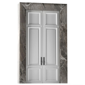 Interior hinged doors in white