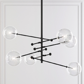 Restoration Hardware Glass Globe Mobile 6 ARM CHANDELIER 55