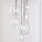 Restoration Hardware Glass Globe Mobile Pendant compilation