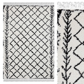 Carpet Think Rugs Boho 7043 White / Black