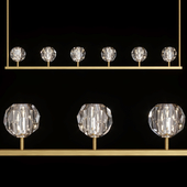 Restoration Hardware BOULE DE CRISTAL LINEAR CHANDELIER 60 Brass