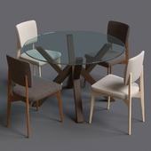 Table and chair from Connubia