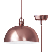 Southlake 1 Light Bowl Pendant lamp brushed cuper