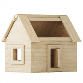 Wooden constructor. House
