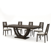 Continental Furniture - U Base Table and Chairs