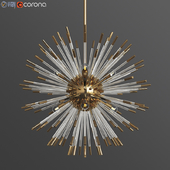 Andromeda Large Chandelier in Brass