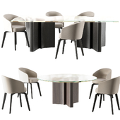 Minotti Chair amelie dining table