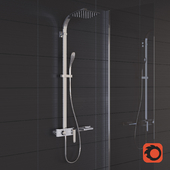 Lemark MELANGE shower faucet with shelf Grohe Allure Brilliant