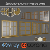 Wood - aluminum windows, view 03 part 01 set 06
