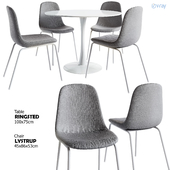 Jysk / LYSTRUP Chair + RINGSTED Table