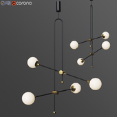XYZ Chandelier Unique Minimalist Pendant Lamp