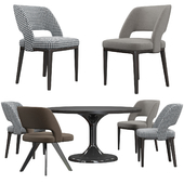 Minotti Owens chairs and table Neto