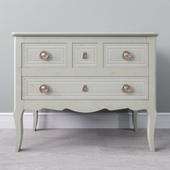 Transition style chest of drawers