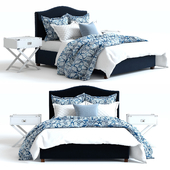 Pottery Barn Raleigh Bed 4 blue